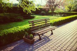 commercial landscape architecture bench