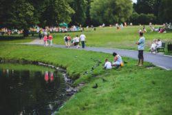 people enjoy green spaces
